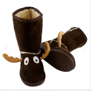 Lazy One Shoes - Cute Kids LAZY ONE Moose Toasty Toez Boots XS